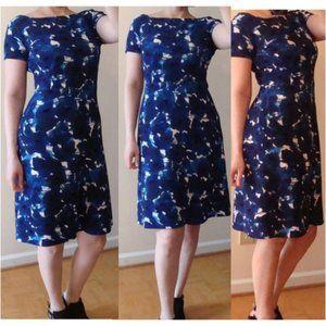 Ivanka Trump Dresses - Ivanka trump blue floral dress runs 4 fit flare